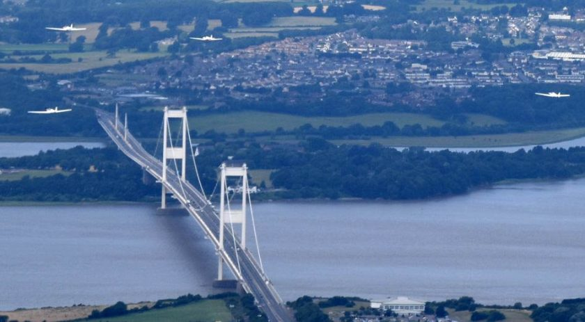 Bristol, le grand pont suspendu Severn bridge