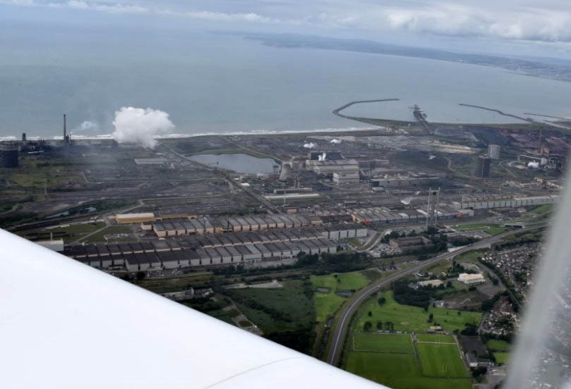 l'une des 2 dernières aciéries du Pays de Galles.